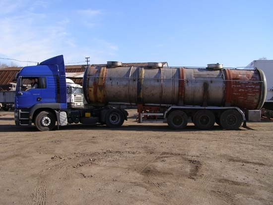 The tank is almost ready. The tanker drives to the company's branch (in the town of Efremov), where...